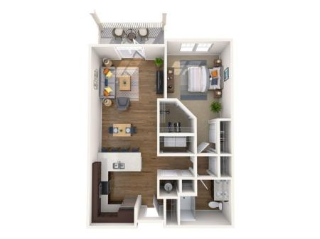 A1 | 1 bed 1 bath | from 754 square feet