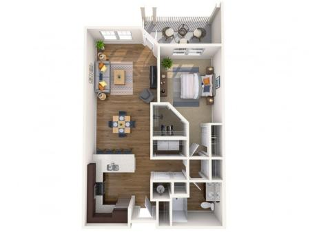 A2 | 1 bed 1 bath | from 804 square feet