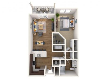 A1 ALT P | 1 bed 1 bath | from 776 square feet