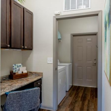 In Home Desk/Office area & Spacious Laundry Room | Meadows at HomePlace