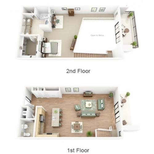 Bordeaux Loft Floor Plan