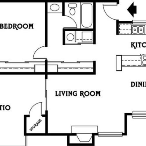 1x1 C Floor Plan