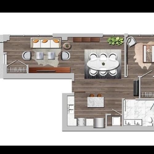 Lw1bA one bedroom ground loft A