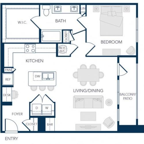 The Rosemary Apartments- A3 Floor Plan