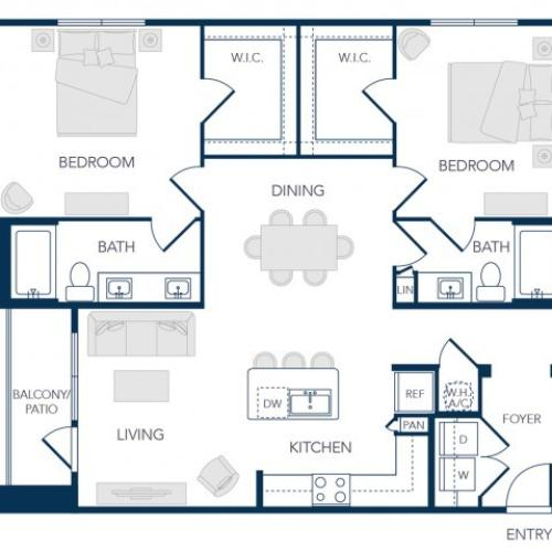 The Rosemary Apartments- B1 Floor Plan