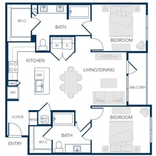 The Rosemary Apartments- B2B Floor Plan