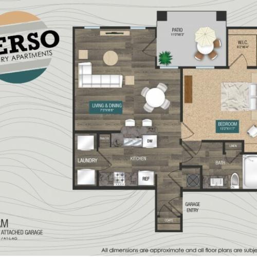 Seafoam A1-L / A1-L-AG floor plan