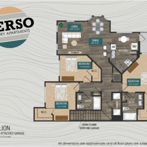 Vermillion C1-U floor plan