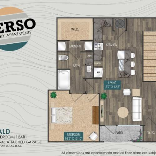 Emerald A2-U floor plan