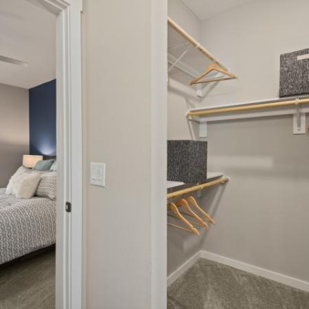 Bedroom and closet | Verso Luxury Apartments