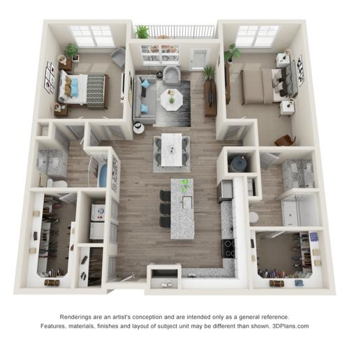 Verge Luxury Flats | Brink Floor Plan