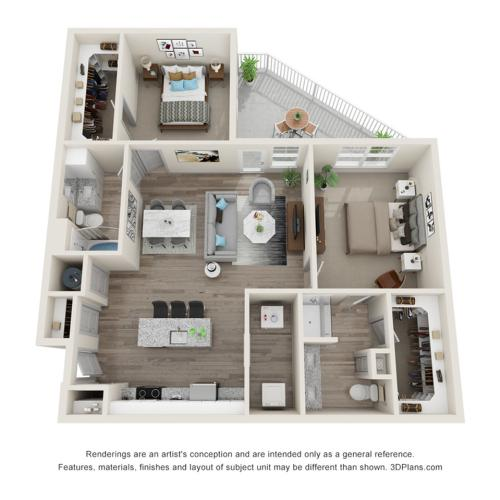 Verge Luxury Flats | Edge Floor Plan
