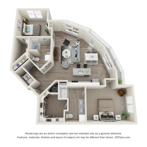 Verge Luxury Flats | Fringe Floor Plan