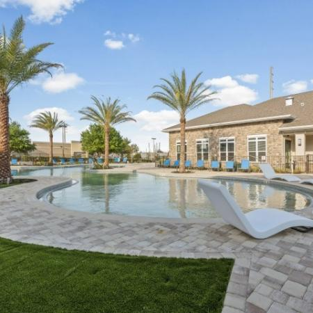 Relaxing Pool Area | Verso Luxury Apartments
