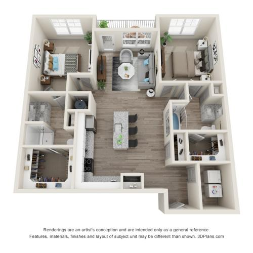 Verge Luxury Flats | Frontier Floor Plan