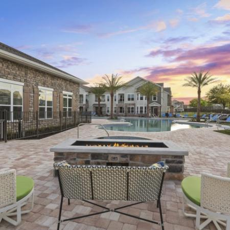Outdoor Fire Pit | Verso Luxury Apartments