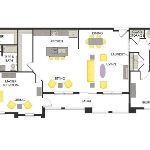 Arcadia Gardens, Palm Beach Gardens FL | Orchid Deluxe floorplan