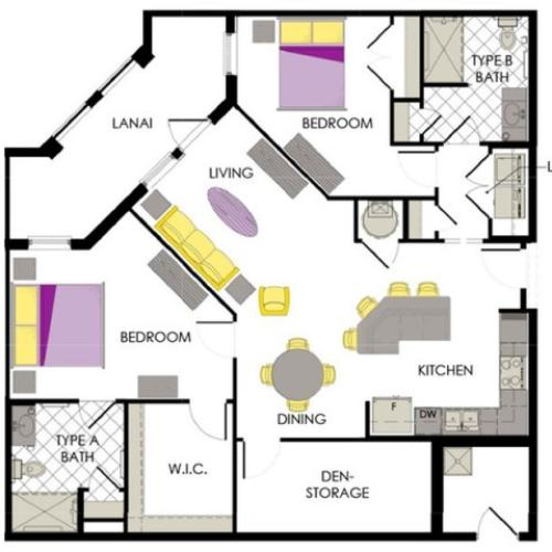 Arcadia Gardens, Palm Beach Gardens FL | Orchid A Floorplan