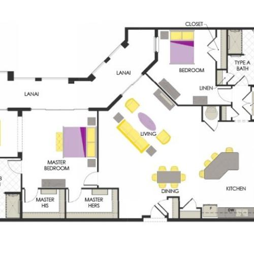 Arcadia Gardens, Palm Beach Gardens FL | Caladium deluxe floorplan