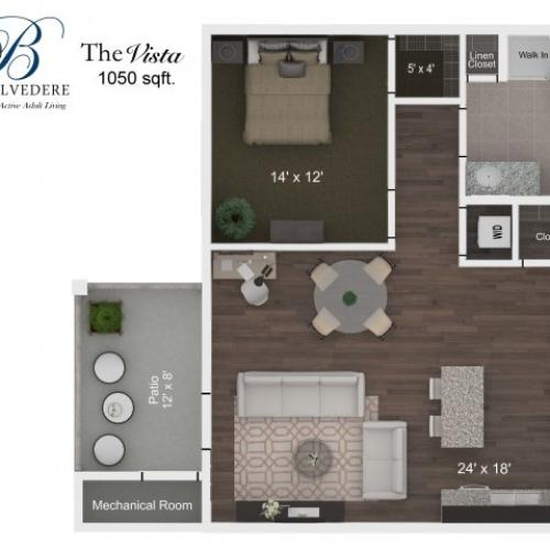 The Belvedere Vista floorplan