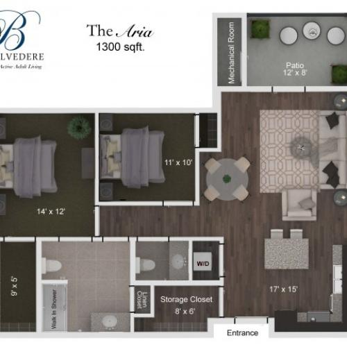 The Belvedere Aria floorplan
