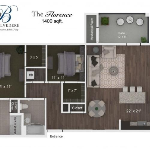 The Belvedere Florence floorplan