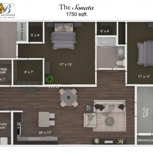 The Belvedere Sonata floorplan