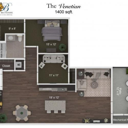 The Belvedere Venetian floorplan