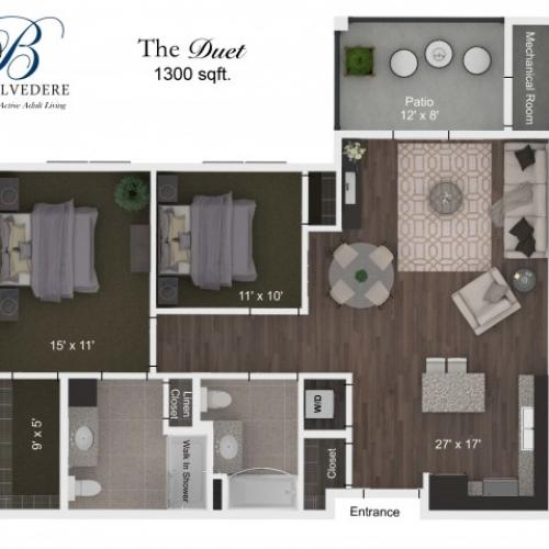The Belvedere Duet floorplan