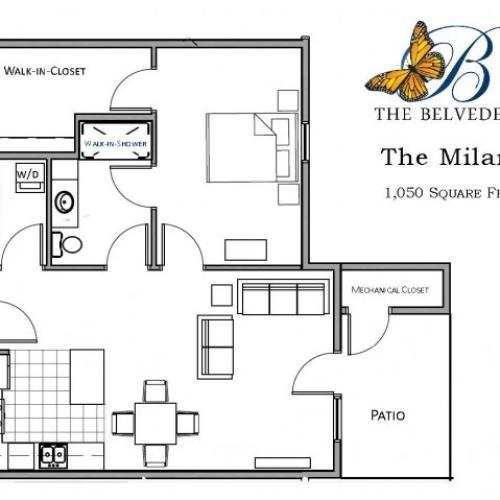 The Belvedere milana floorplan