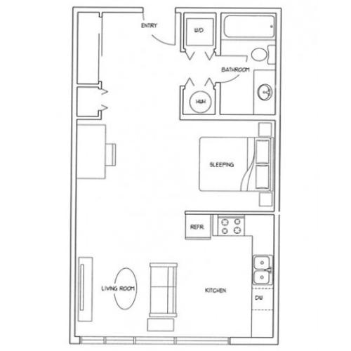 Open Studio Floor Plan