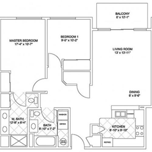 Luxury Two Bedroom (Cascade Ridge)
