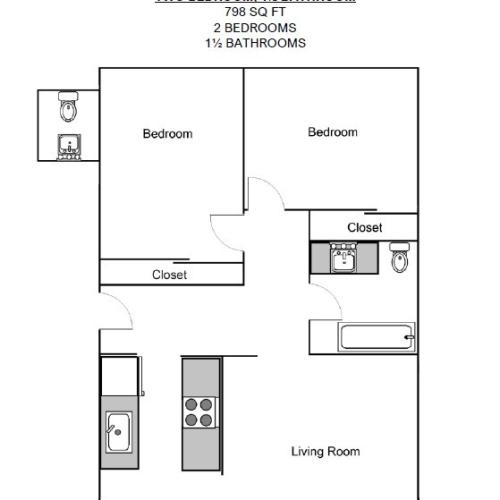 Two Bed Floorplan