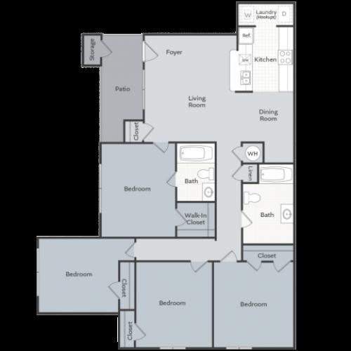 4 Bedroom Apartment Conway AR