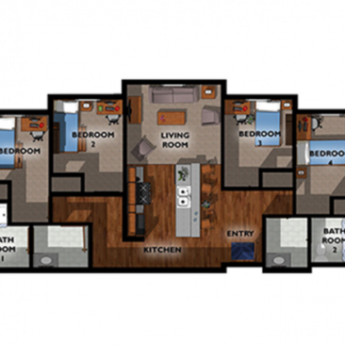 4x2 Floor Plan Layout