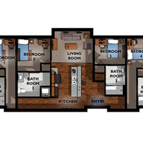 4x4 Floor Plan Layout