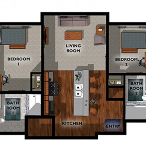 2x2 Floor Plan Layout