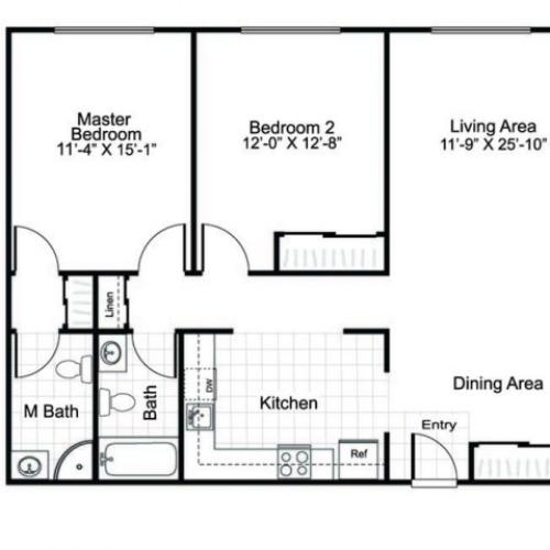 2 Bed and 2 Bath