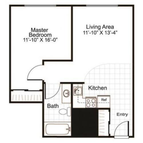 1 Bed and 1 Bath