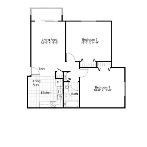 B1A  | Colonial Village Apartments | Apartments in Manchester NH