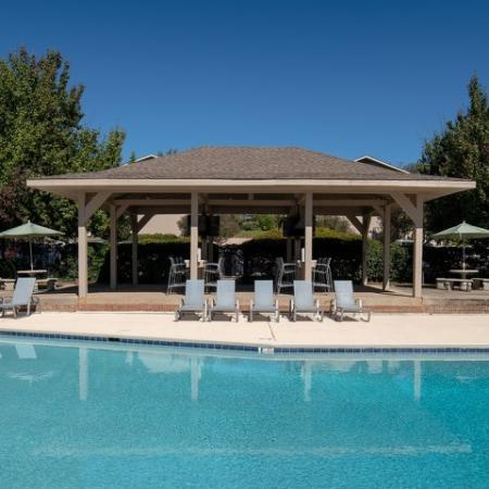 Pool Deck Bar with WiFi and Outdoor TVs   Eagles West   Student Apartments in Auburn AL