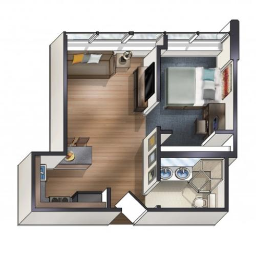 A4 Floor Plan | University Plaza  | Apartments Near NIU