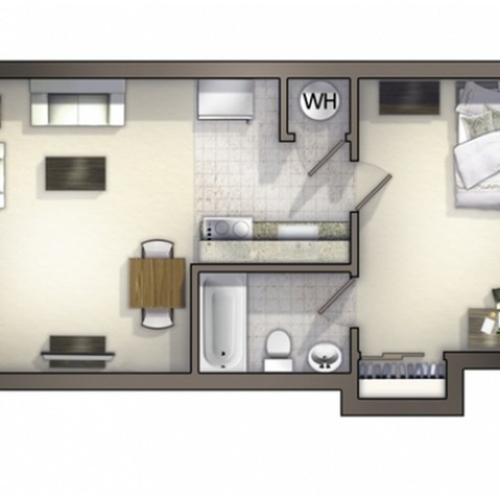 A3 Floor Plan | Floor Plan 3 | University Apartments Durham | 1 & 2 Bedroom Apartments In Durham NC