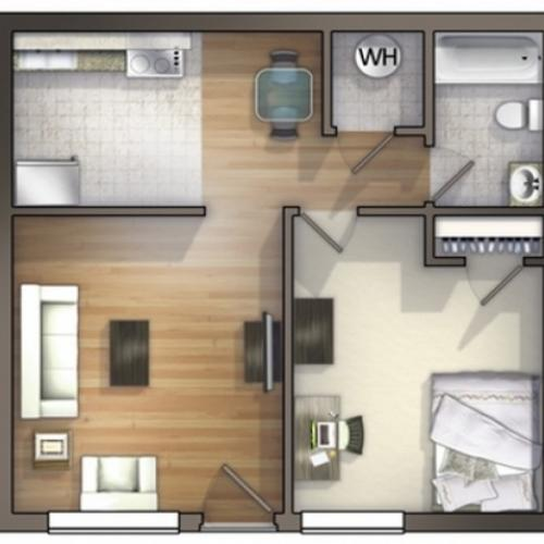 A4D Floor Plan  Floor Plan 4.5 | University Apartments Durham | Duke Apartments