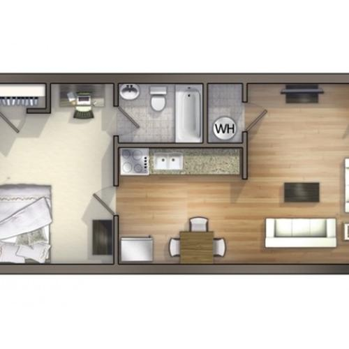 A5 Floor Plan | Floor Plan 5 | University Apartments Durham | Duke Apartments