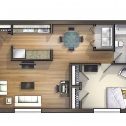 A8 Floor Plan | Floor Plan 8 | University Apartments Durham | 1 & 2 Bedroom Apartments In Durham NC