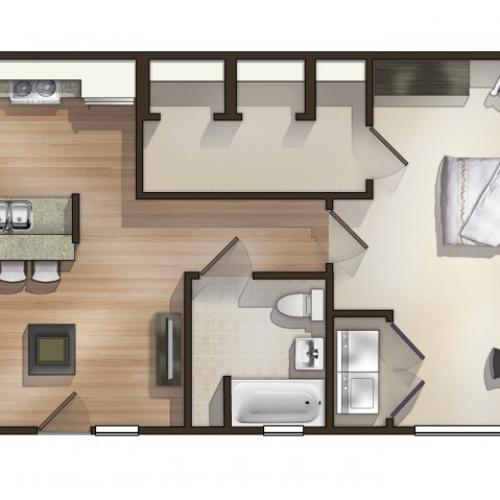 A9 Floor Plan  | Floor Plan 9 | University Apartments Durham | Apartments Near Duke University
