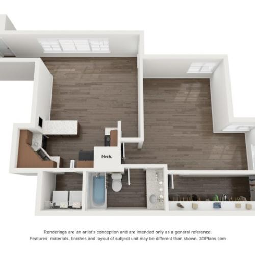 A2 Deluxe Unfurnished 2 Bedroom
