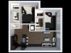 B3 Floor Plan | 2Bdrm Floor Plan | The Cardinal at West Center | Fayetteville AR Apartments