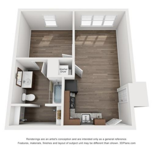 A2 Floor Plan Unfurnished